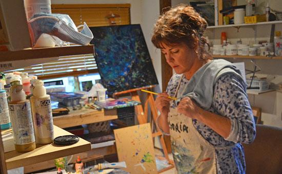 Diane Adolph - in the studio