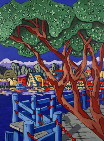 Arbutus across the Harbour - by Diane Adolph