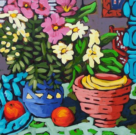 Bananas in Bowl - by Diane Adolph