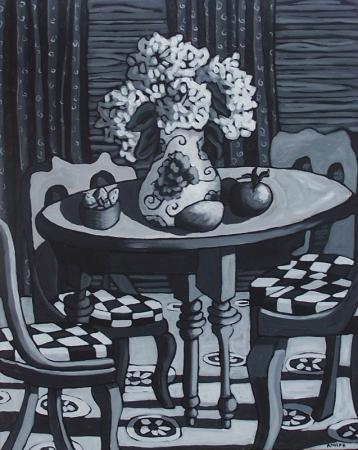 Checkered Chairs - by Diane Adolph