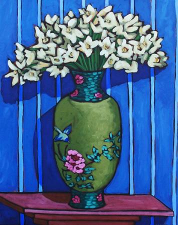 Chinese Vase - by Diane Adolph