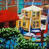 Westbay House Boat - by Diane Adolph
